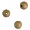Wooden Bead Round 8mm Gold Lacquered